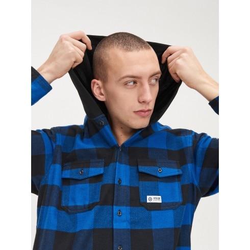 Рубашка oversize с капюшоном