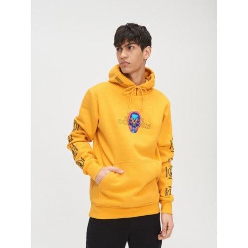 Желтое худи с карманом-кенгуру