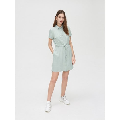 Платье-рубашка из вискозы